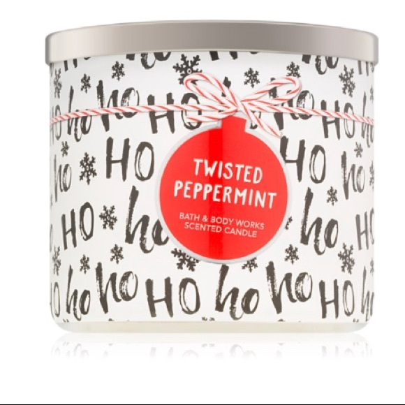 Brand New Twisted Peppermint 3-Wick Candle
